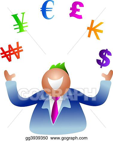 Stock Illustration - Juggling currency  Clipart Drawing gg3939350