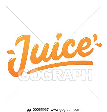 vector art juice logo lettering eps clipart gg100065967 gograph https www gograph com clipart license summary gg100065967