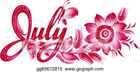 Vector Illustration - July the name of the month . EPS ...