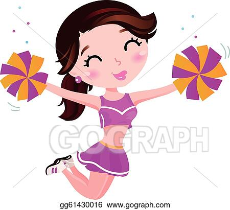 cheerleader clip art royalty free gograph rh gograph com cheerleader clipart black and white cheerleader clipart images
