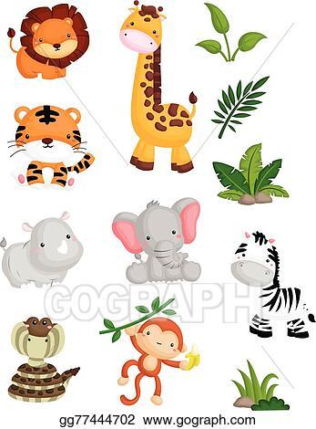 Jungle Animals Clip Art Royalty Free Gograph