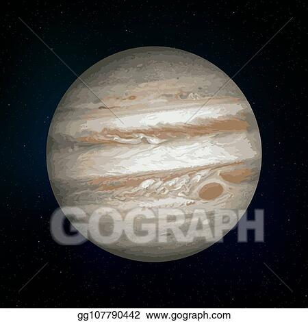 Planet realistic. Vector clipart jupiter illustration