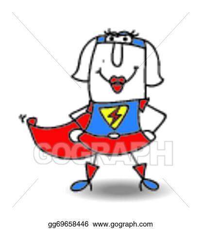 vector clipart karen superhero vector illustration gg69658446 rh gograph com superman clip art superwoman clipart free