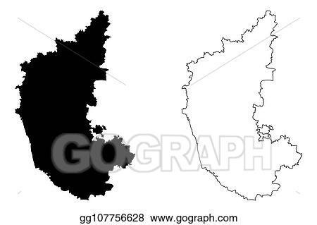 Vector Stock - Karnataka map. Stock Clip Art gg107756628 ... on gujarat state india map, bellary karnataka india map, bihar state india map,