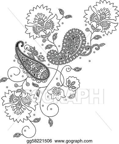 Henna Design Clip Art Royalty Free Gograph