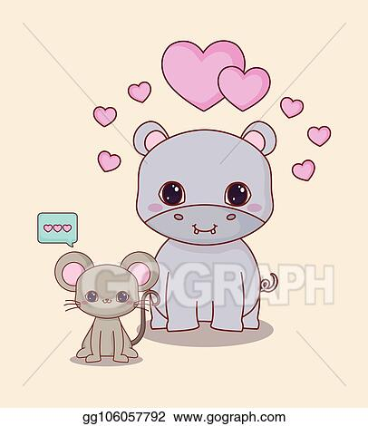 Image of: Step Kawaii Animals And Love Elleseal Clip Art Vector Kawaii Animals And Love Stock Eps Gg106057792