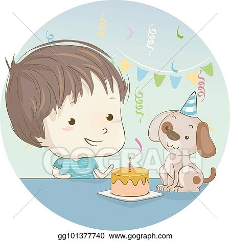 Kid Boy Dog Birthday Cake