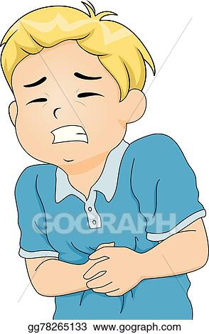 Vector Stock Kid Boy Stomach Pain Clipart Illustration Gg78265133