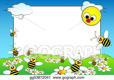 Clip Art - Kid scrapbook with blank frame message. Stock ...