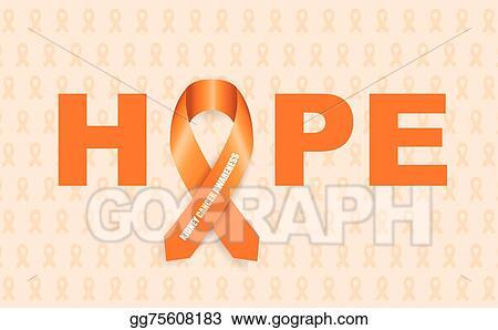 clip art vector kidney cancer awareness ribbon stock eps