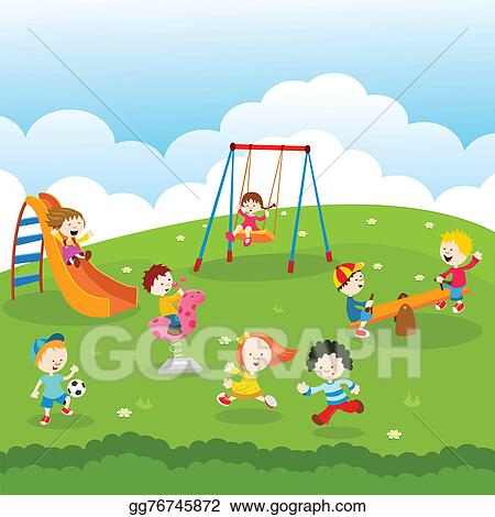 drawing kids at park clipart drawing gg76745872 gograph rh gograph com clip art parking pass clip art park