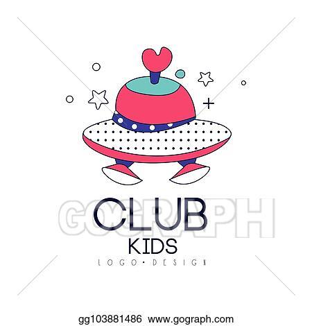 Vector Stock Kids Club Logo Design Element Label For