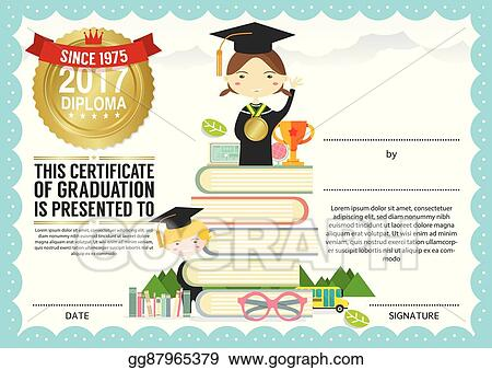 Preschool Graduation Certificate Template from comps.gograph.com