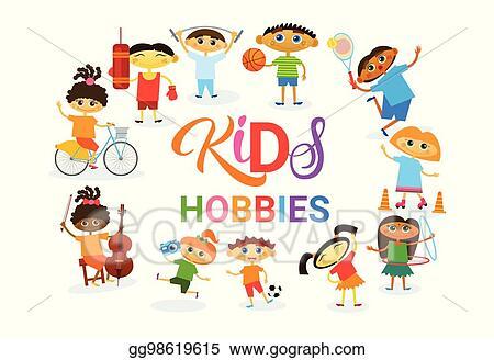 Eps Illustration Kids Hobbies Art Classes Logo Workshop Creative Artistic School For Children Development Banner Vector Clipart Gg98619615 Gograph