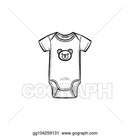 84f1961f5504 Vector Illustration - Kid s wear hand drawn outline doodle icon. EPS ...