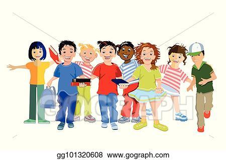 Eps Vector Kinder Lachen Stock Clipart Illustration Gg101320608