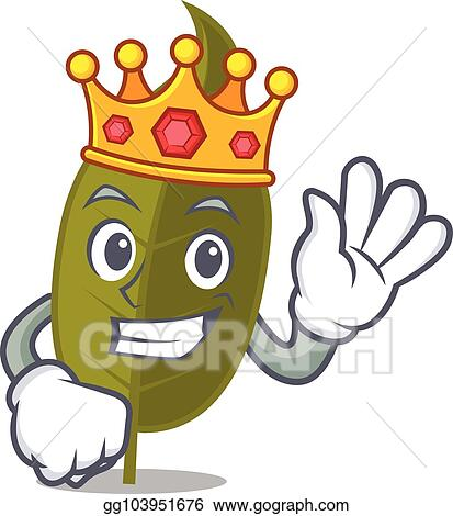 Vector Illustration King Bay Leaf Mascot Cartoon Stock Clip Art Gg103951676 Gograph Almost files can be used for commercial. gograph