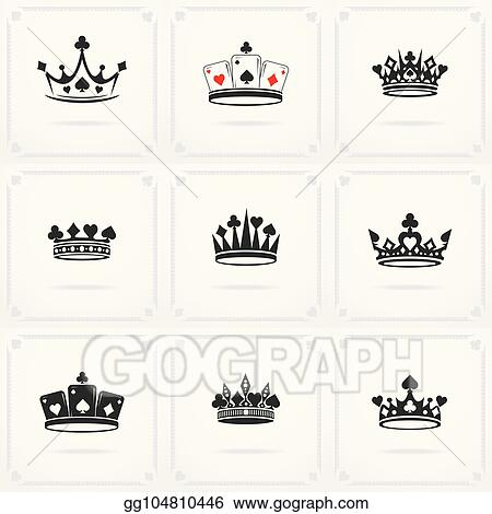 Eps Vector King Crown Symbol Stock Clipart Illustration