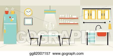 Kitchen Dining Room Furniture Display Panorama