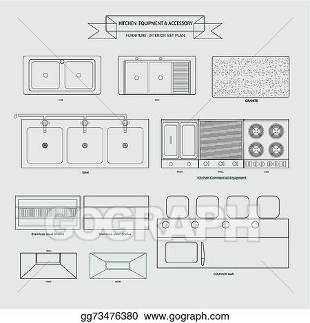 Vector Art Kitchen Equipment And Accessory Clipart Drawing