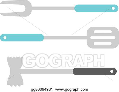 Vector Art Kitchen Ladle Cooking Home Culinary Equipment Flat