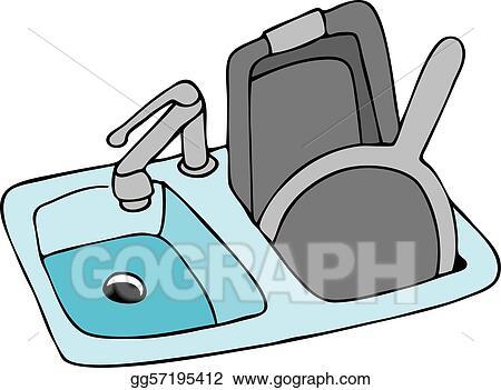 Vector Illustration - Kitchen sink. EPS Clipart gg57195412 - GoGraph
