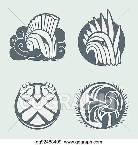 Vector Clipart - Knight helmet logo template. Vector Illustration ...