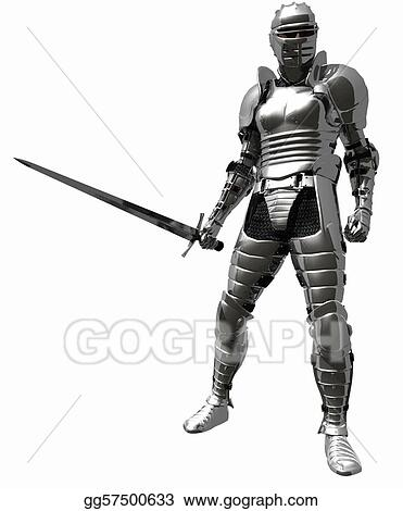Drawing - Knight in medieval armour - 1. Clipart Drawing ...