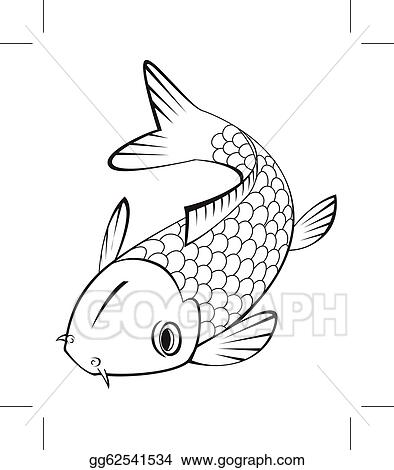 vector art koi fish clipart drawing gg62541534 gograph rh gograph com free koi fish clipart koi fish clipart black and white