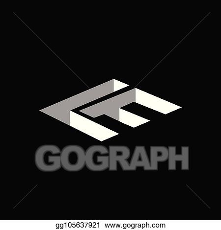 vector stock l f initial letter with 3d concept logo vector element template stock clip art gg105637921 gograph https www gograph com clipart license summary gg105637921