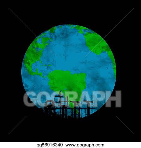 Dessins La Terre Pollution Gg56916340 Illustration De