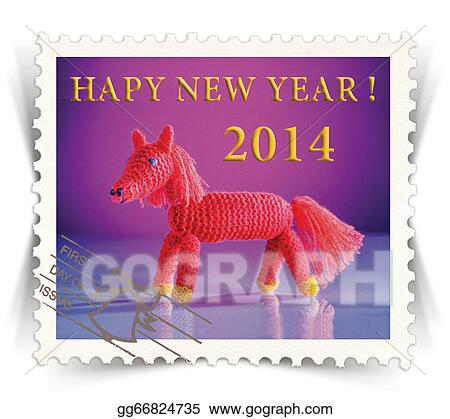 Clip art label for seasonal ads or new year greeting cards label for seasonal ads or new year greeting cards stylized as post stamp m4hsunfo