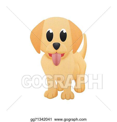 Drawing Labrador Retriever Is Cute Dog Cartoon With Illustration
