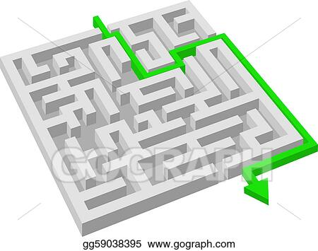 Vector Art Labyrinth Maze Puzzle Concept Clipart Drawing