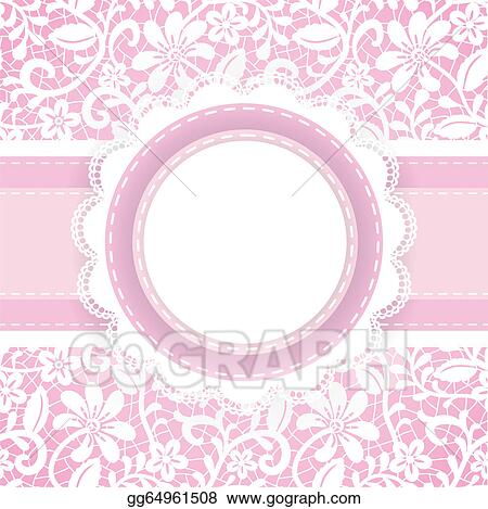 Vector Art Lace Background And Pearl Necklace Clipart