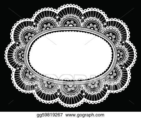 Vector Clipart Lace Doily Crochet Border Vector Vector
