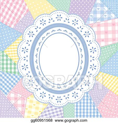 EPS Vector - Lace doily patchwork quilt frame. Stock Clipart ...