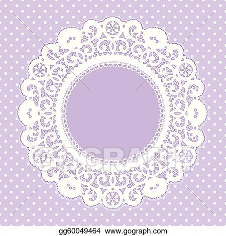 Clip Art Vector - Lace frame, polka dot background. Stock EPS ...