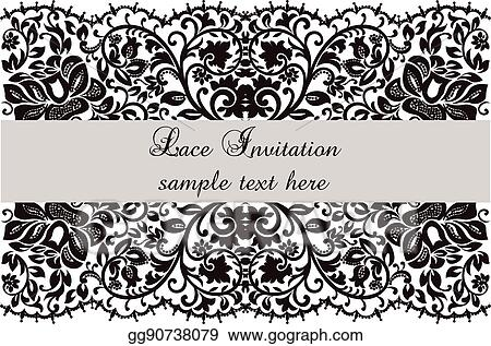 Vector clipart lace invitation card with delicate ornament vector lace invitation card with delicate ornament stopboris Gallery