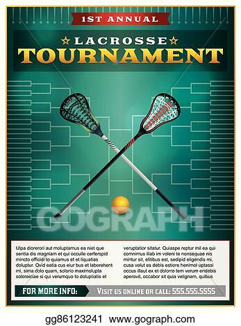 Clip Art Vector Lacrosse Tournament Flyer Template Stock Eps