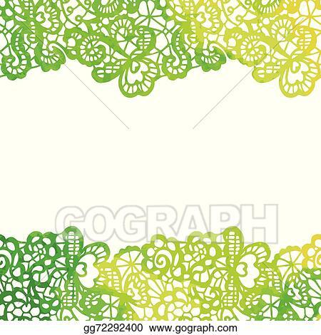 Vector Illustration Lacy Elegant Border Invitation Card