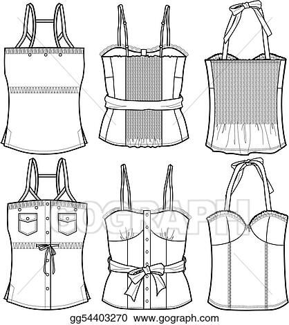EPS Vector - Ladies bustier tops. Stock Clipart Illustration ... 8bdae62746a