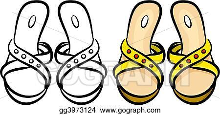 stock illustration ladies sandals clipart illustrations gg3973124 rh gograph com ladies clip art golfing on the sand ladies clip art free