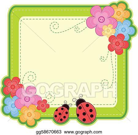 Vector Clipart Ladybug Frame Vector Illustration Gg58670663 Gograph
