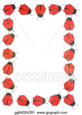 Clip Art Ladybug Frame Stock Illustration Gg64024391 Gograph