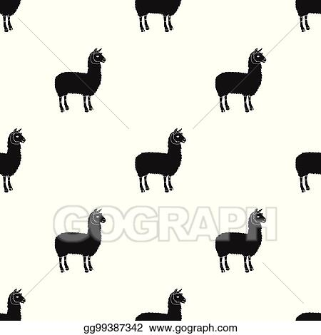 eps vector lama a south american pack animal a lame a cloven