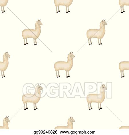 eps illustration lama a south american pack animal a lame a