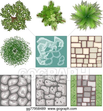Landscape Design Top View Vector Elements