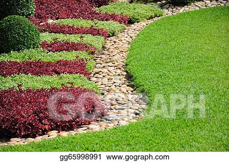 Stock Photos Landscaped Yard And Garden Stock Images Gg65998991