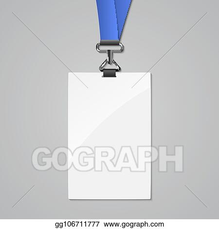 Vector Stock Lanyard Badge Id Card Template Blank